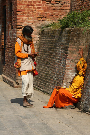 Sadhu are considered holy man, wandering monks.