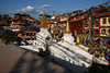 View from Boudhanath stupa near Kathmandu.