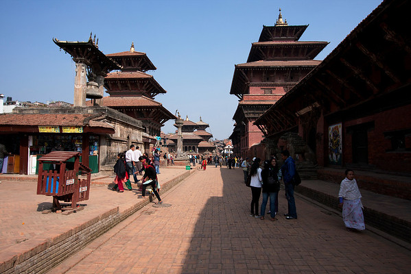 Patan Durbar Square is much less crowded compared to the one in Kathmandu.