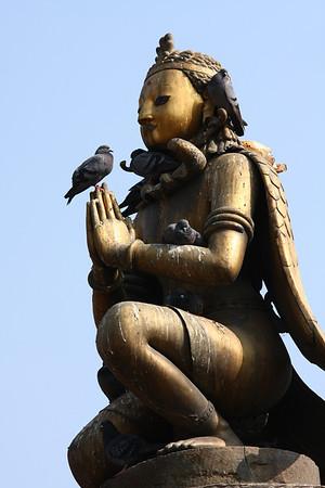 Statue in Patan Durbar Square.