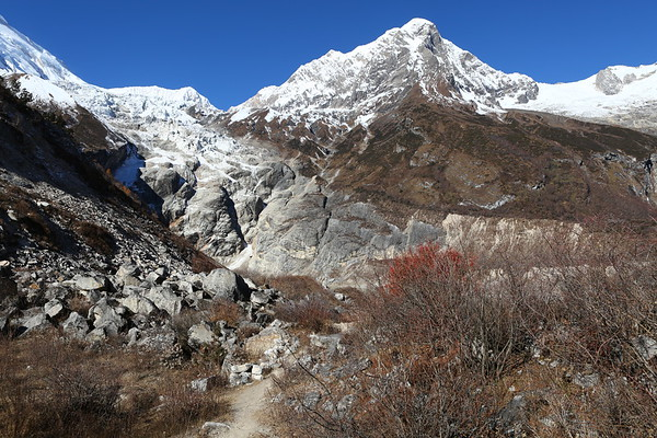 One of the possible side trips is to Manaslu base camp. The side trips are definitely the most difficult part as they are much higher than where you start from and you are not acclimatized enough.