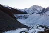 Frozen lake in the valley. We were towards the end of trekking season so I wonder if it's always frozen.
