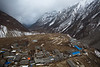 Samdo, the most beautiful village from the trip. We were also lucky with the dark sky and, at one point, it started to snow. Samdo is one day away from the border with Tibet and people were more Tibetans than Nepali.