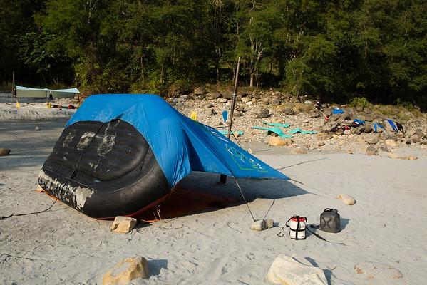 Tents were always improvised.