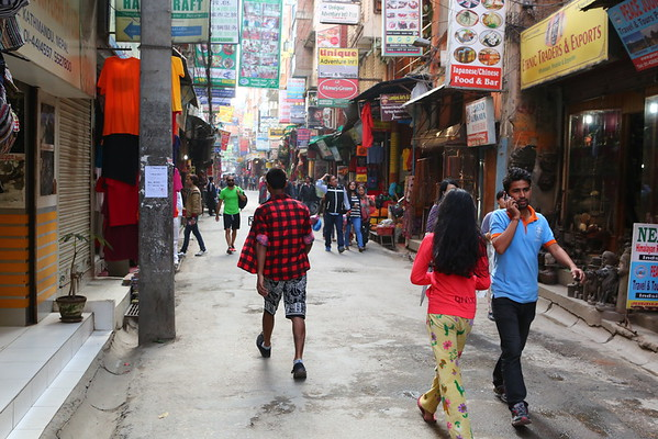 Thamel, the touristic area from Kathmandu, had more sellers than tourists.