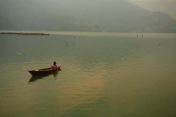 Phewa lake in Pokhara, as beautiful as we remembered it.