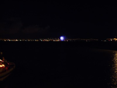 Pictures of the fireworks in San Francisco, about 15 miles away