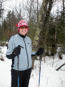 Carrie and Bill (seldom pictured) do some back country skiing and set fresh tracks for about 3 hours.