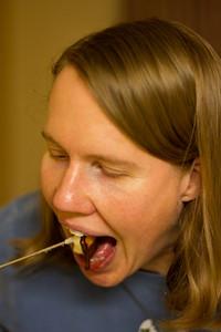 Desert: chocolate fondue