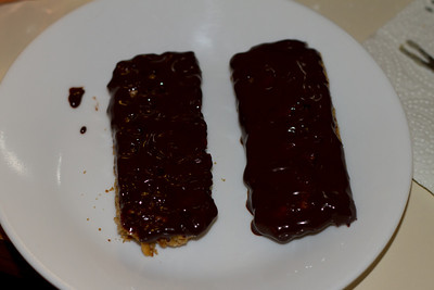 We also made some chocolate coated granola bars