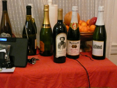 There were a lot of Non tea like drinks at this party.... Wine and Champaign and Sparkling Cider....