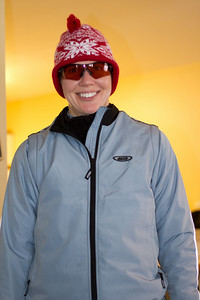 Carrie gets ready for a big day of Cross Country Skiing