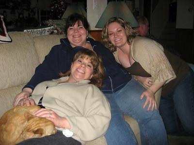 Rita, Julie and me...and Sebastian in Rita's lap.