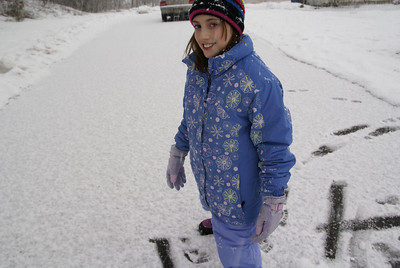 Our first day of 2008 and Snow beckoned!