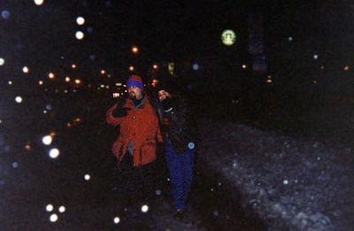 "<div CLASS=""Caption"">G-Dogs - New Year's Eve, 1998     <div CLASS=""Location"">Some street in Wrigleyville, Chicago, IL</div></div>     <div CLASS=""Detail"">     G-Dawg Duckie and Fab Fast Frankie F. the Fourth lay down some stone grooves      in the second worst snowstorm in Chicago history. You can't hold a chillin'      riff down.</div>"