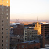 Louisville skyline at dawn of the new year