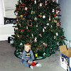 Wyatt by the christmas tree
