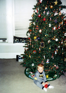 Wyatt by the Christmas tree