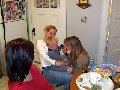 Lori, Angie, Wyatt and Mary having fun