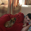 Cory gets a little rest with Charlie before the party starts ( 2011 )
