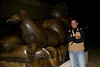 2009 First Night St. Pete - Rich with a Fernando Botero's reclining girl with cigarette statue