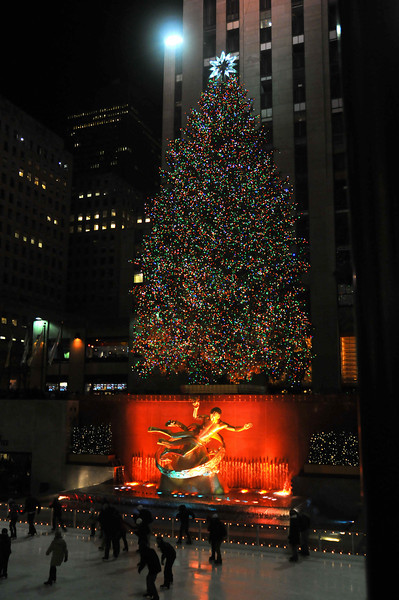 Another glorious Christmas tree at Rockefeller Center