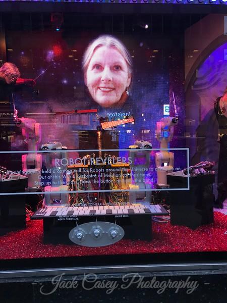 Lindie makes the storefront display!