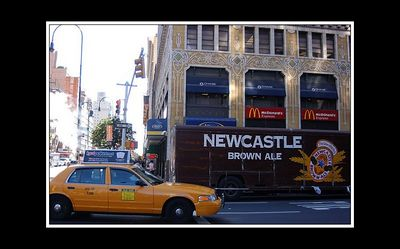 Seeing a Newcastle Brown Ale delivery truck in New York is something special - given that we live only fiften miles away from Newcastle in NE England!