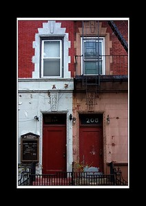 For some reason I love this photo - a line down the middle divides the church from the home in this vey unassuming street in Harlem - both side of the paintwork have seen better days, and the fact that the colours really work together.