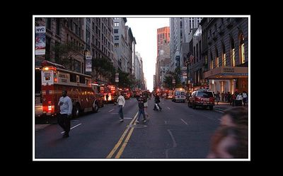 Fire police and parmedics all in the same street! - something big was going off!
