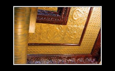 another detailed image of the ceiling at the Vilage Den...