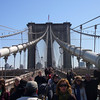 Very busy on the Brooklyn Bridge!