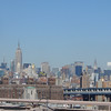 The view north: Empire State and Chrysler buildings