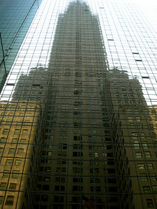Reflection of the Chrysler building in New York