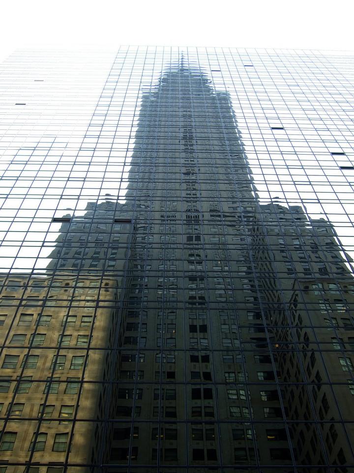 Chrysler building reflected, New York