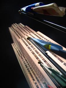 Rockefeller at night, New York