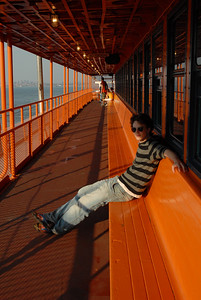 John on the Staten Island Ferry, New York