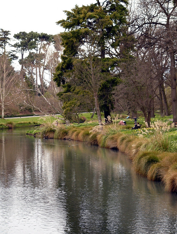 Christchurch has been compared to an English town. The river in the photo is the Avon.