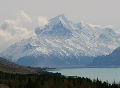 Mount Cook is New Zealand's tallest mountain. Edmund Hillary (of Everest fame) cut his teeth on these mountains.