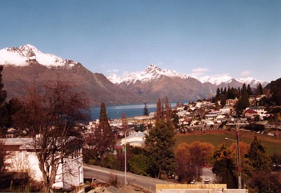 This photograph of Queenstown is taken from behind our hotel. Photographer --- Stephen Fong. Sigma SA-300N