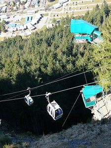 Cable car servicing the hill close to Queenstown. That bungee-jump platform in the top-right of the picture features in the 'Berocca' advertisement.