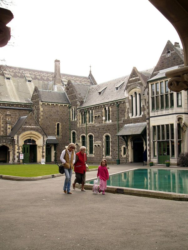 Used to be the Christchurch university, it is now an artist enclave/(?faculty of the arts). Some artists are 'on display' to show their craft skills live. The enclave is also home to a fudge shop.