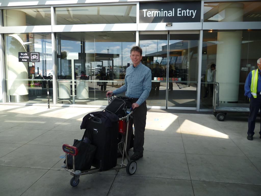 Arriving at Christchurch
