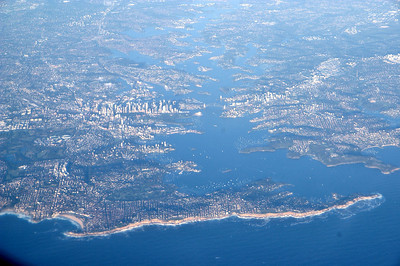 20080101_1214_bib Sydney Harbour, viewed from an aircraft flying from Newcastle to Melbourne.