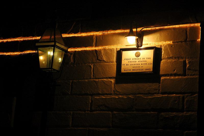 First Street Lighting in USA - 1805