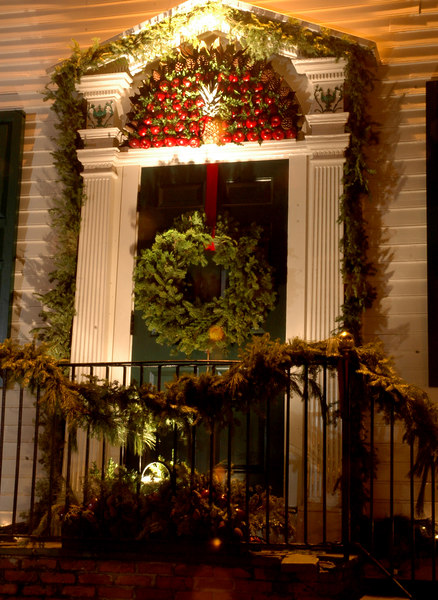 Holiday Door Garnish, literally!