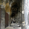 Underneath the arches at les Arenes, Nimes