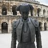 Matador statue outside les Arenes in Nimes - no flash used