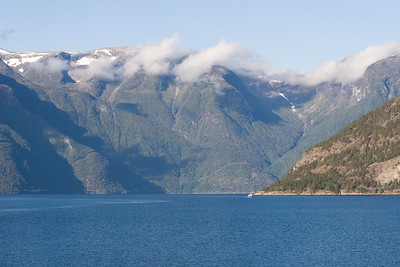 View from ferry from Kaupanger to Gutvangen.