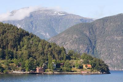 View from ferry from Kaupanger to Gutvangen.